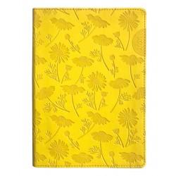 """Ежедневник дат. 2020 """"Camomile"""" 140*200/352 стр, желтый, интегральный переплет, ляссе"""