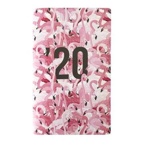 "Планнер дат. 2020 ""Animals"" 130*210/64 стр, мягкая обл, картонная обл, скрепка"