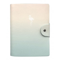 """Ежедневник н/дат. """"Flamingo"""" 140х200 мм, 192 стр., мягкий переплет, полускрытая спираль"""