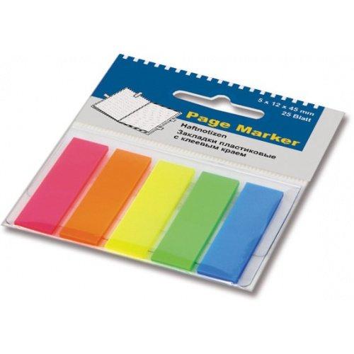Закладки пластиковые с клеевым краем Office Point