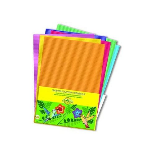 Набор цветного гофрокартона School Point A4 Колибри 12 цветов